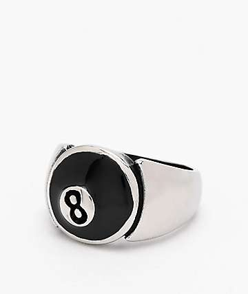 Personal Fears 8 Ball Stainless Steel Ring