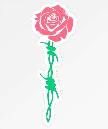 Petals & Peacocks Barbed Rose Sticker