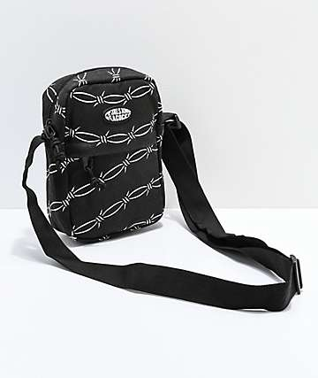 Petals & Peacocks Black Barbed Wire Shoulder Bag