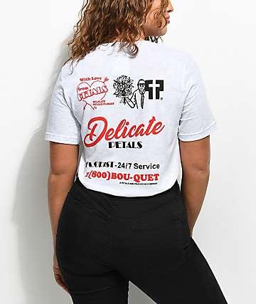 Petals & Peacocks Delicate camiseta gris