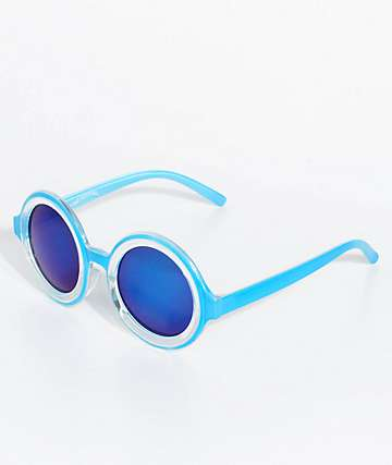 Petals & Peacocks Extasy Blue Sunglasses