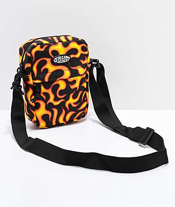 Petals & Peacocks Flames Shoulder Bag