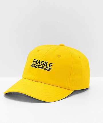 Petals & Peacocks Fragile Yellow Strapback Hat