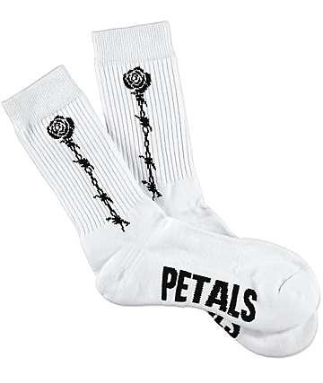 Petals & Peacocks Fragile calcetines en blanco