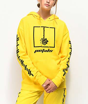 Petals & Peacocks Kindness Yellow Hoodie