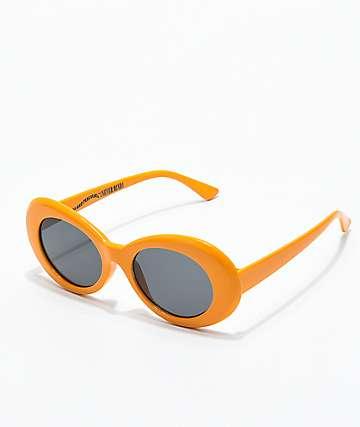 Petals & Peacocks Nevermind gafas de sol anaranjadas