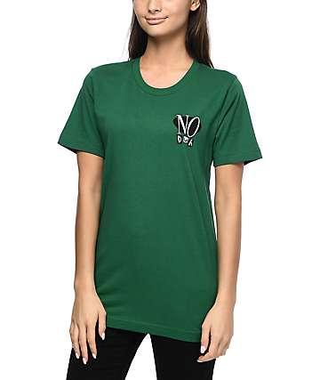 Petals & Peacocks No Duh camiseta verde