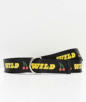 Petals & Peacocks Wild Cherry Web Belt