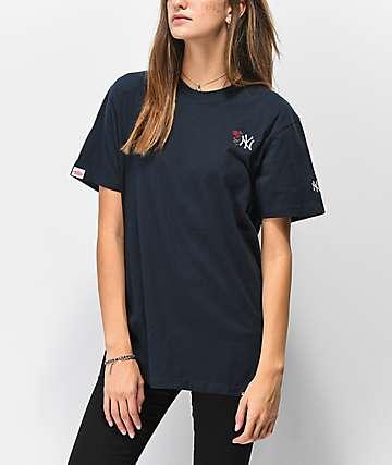 Petals & Peacocks x '47 NY Yankees camiseta azul