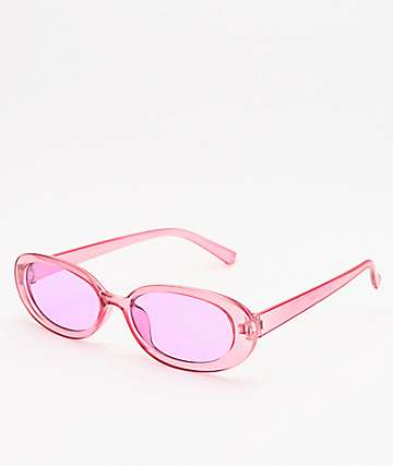 Petals and Peacocks Courtney Translucent Pink Sunglasses