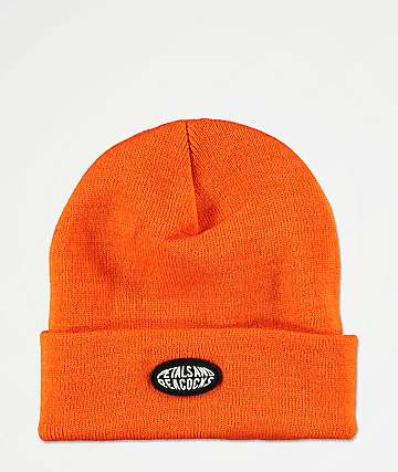 Petals and Peacocks Logo Orange Beanie