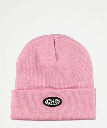 Petals and Peacocks Logo Pink Beanie