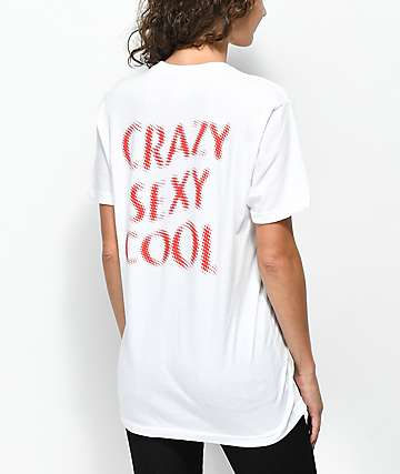 Petals by Petals & Peacocks Crazy Sexy Cool White T-Shirt