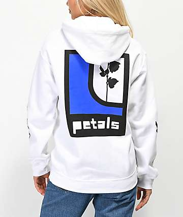 Petals by Petals & Peacocks Ill Will Rose White Hoodie