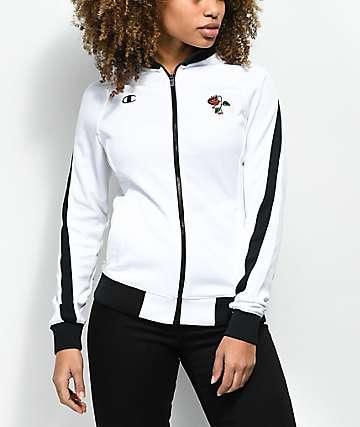 Petals by Petals & Peacocks x Champion White & Black Track Jacket