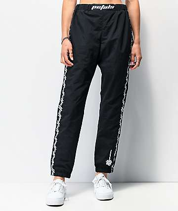 Petals by Petals and Peacocks Kindness Black Crinkle Track Pants