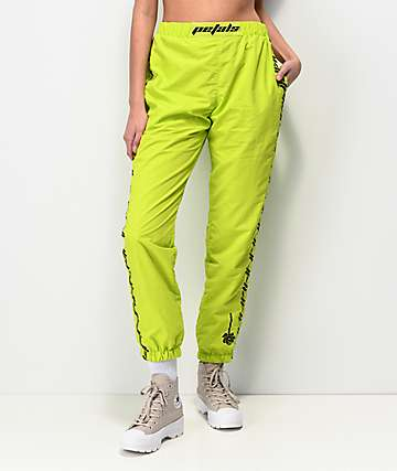 Petals by Petals and Peacocks Kindness Neon Green Track Pants