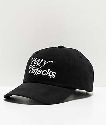 Petty Snacks Where it Ends Black Strapback Hat