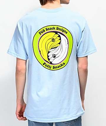 Petty Snacks Wood & Water Light Blue T-Shirt