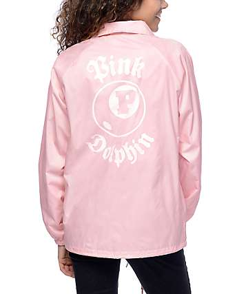 Pink Dolphin 8 Ball Pink Coaches Jacket