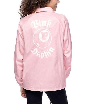 Pink Dolphin 8 Ball chaqueta entrenador en rosa