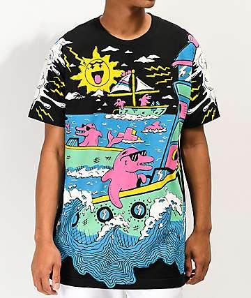 1d856570 Pink Dolphin Back Bay Sail Black T-Shirt