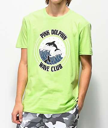 Pink Dolphin Club Crest camiseta verde