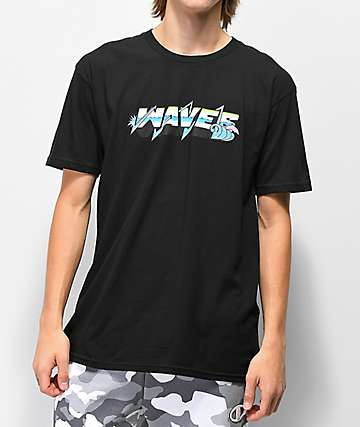 Pink Dolphin Electric Waves camiseta negra