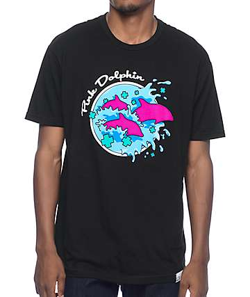 Pink Dolphin Enter The Wave camiseta negra