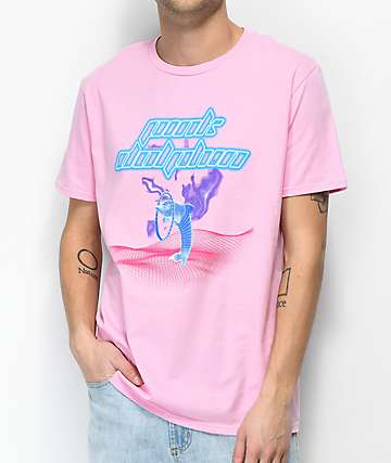 Pink Dolphin Leap Grid Pink T-Shirt