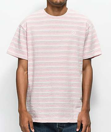 Pink Dolphin Plus Stripe Pink T-Shirt