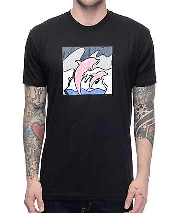 Pink Dolphin Spotlight Black T-Shirt