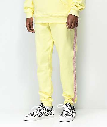 Pink Dolphin Striped Yellow Sweatpants