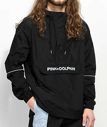 Pink Dolphin Wave Crew Bolt 2.0 Black Anorak Jacket