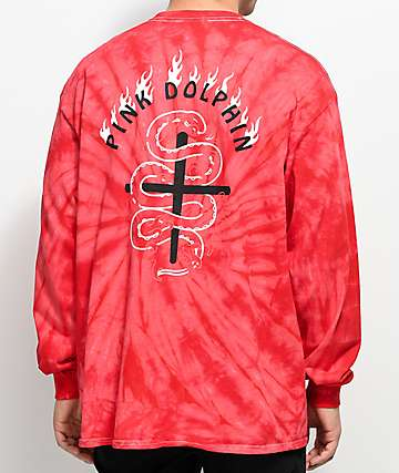 Pink Dolphin Waveflare Red Long Sleeve T-Shirt