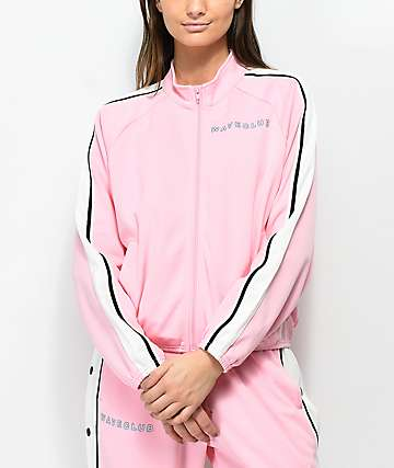 Pink Dolphin Waves Club Pink Zip Up Track Jacket