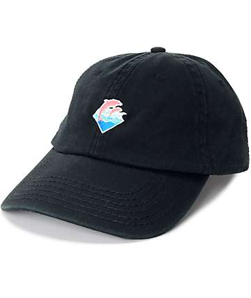 Pink Dolphin Waves gorra béisbol en negro