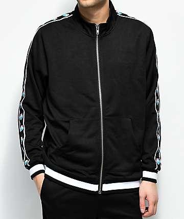 Pink Dolphin Wavesport chaqueta negra de chándal con cremallera