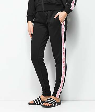 Pink Dolphin Wavesport pantalones de chándal en negro
