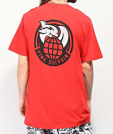 Pink Dolphin Worldwide Leap Red T-Shirt