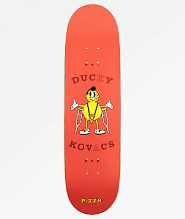 "Pizza Ducky Hipster 8.0"" tabla de skate"
