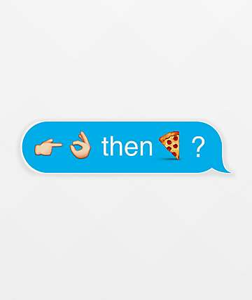 Pizza Emoji Text Sticker