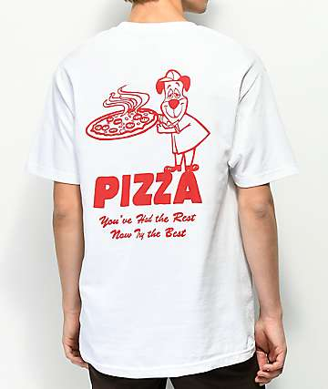 Pizza Homeslice White T-Shirt