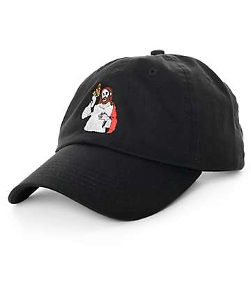 Pizza Last Supper Black Baseball Hat