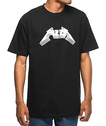 Pizza Metal camiseta negra