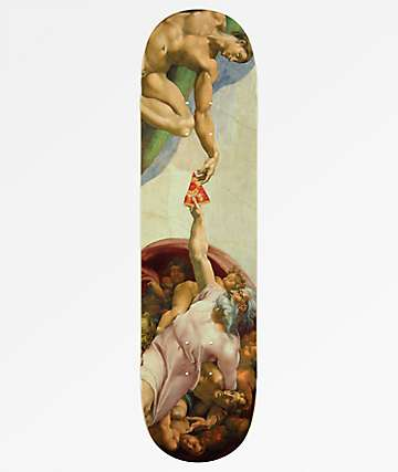 "Pizza Michelangelo 8.0"" Skateboard Deck"