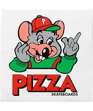 Pizza Skateboards pegatina Chucky