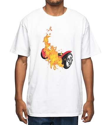 Pizzaslime Hover Board camiseta blanca