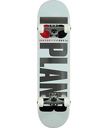 """Plan B Team OG 7.75"""" White Skateboard Complete"""