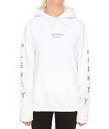 Plenty Humanwear Logo White Hoodie